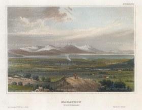"Meyer: Marathon. 1836. A hand coloured original antique steel engraving. 6"" x 4"". [GRCp882]"