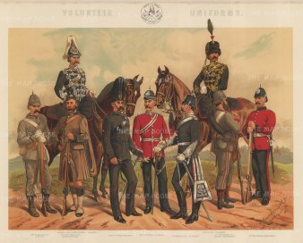 Volunteer Regiments: Yeomanry, Artillery, Rifle and Engineers.