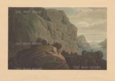 "Boydell: Heliunsund, Norway. 1820. An original colour antique aquatint. 14"" x 10"". [SCANp327]"