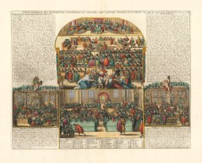 "Chatelain: Swiss Government. 1719. A hand coloured original antique copper engraving. 20"" x 14"". [SWIp766]"