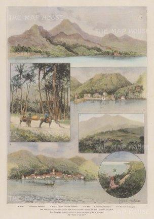 Leeward Islands: Views in Davenport, Plymouth, St. Kitt's and Nevis.