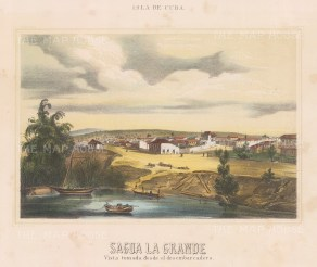 "Mialhe: Sagua La Grande, Cuba. 1853. A hand coloured original antique lithograph. 10"" x 8"". [WINDp697]"