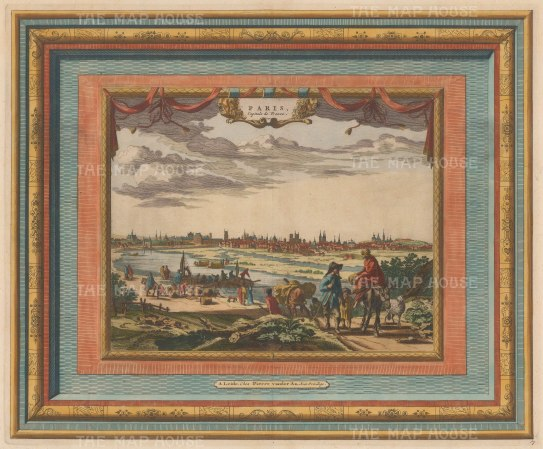 "Van der Aa: Paris. 1730. A hand coloured original antique copper engraving. 17"" x 14"". [FRp1142]"