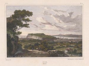 "Villneuve: Nice. c1830. A hand coloured original antique lithograph. 14"" x 10"". [FRp1314]"