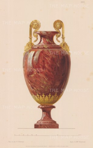 Red Marble and Ormolu Urn.