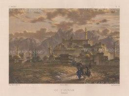 "Flandin: Karin, (Erzroum), Armenia. 1842. A hand coloured original antique lithograph. 11"" x 7"". [RUSp780]"