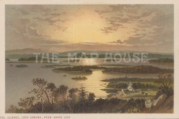 "Nelson: Loch Lomand. 1890. An original antique chromolithograph. 5"" x 4"". [SCOTp1687]"