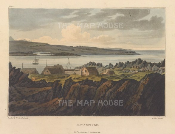 Rare view sketched by Mackenzie on his geological expedition to Iceland.