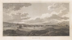Rare panoramic view sketched by Sir George Mackenzie on his geological expedition to Iceland with explorer Henry Holland and physician Richard Bright.
