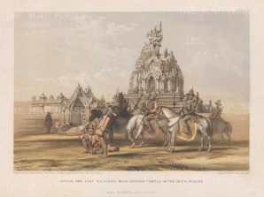 Amrapura. Dragon Temple with cavalry and infantry.