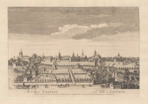 "Sayer: Leipzig. 1774. An original antique copper engraving. 18"" x 12"". [GERp1241]"