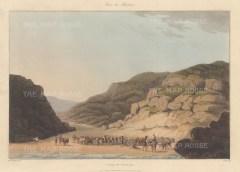 """Bradford: Maceira, Spain. 1809. An original colour antique aquatint. 13"""" x 9"""". [SPp780]"""