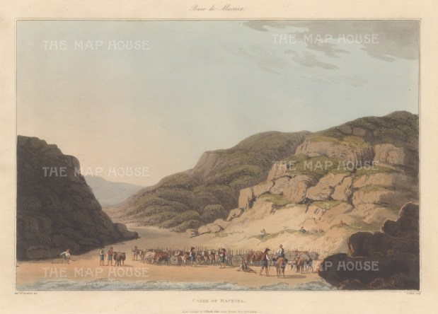 "Bradford: Maceira. 1809. An original colour antique aquatint. 13"" x 9"". [SPp780]"