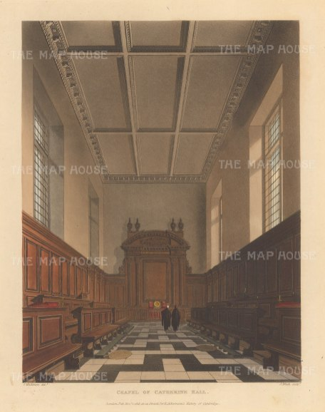 Catherine Hall: Interior of the chapel.