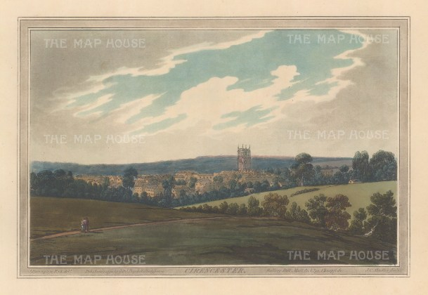 View from the environs of the city and St John the Baptist. After Joseph Farington.
