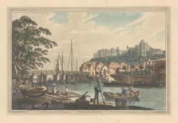 View of Windsor bridge looking towards the castle. After Joseph Farington.