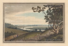 View of the town and Thames from Nuneham Park. After John Farington.