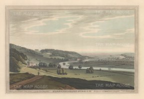 View from the environs of the village, Thames and Hardwicke House. After John Farington.
