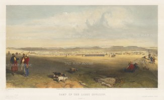 Camp of the Light Division. Consisting of the Royal Horse Artillery, the Royal Artillery and the Rifle Brigade.