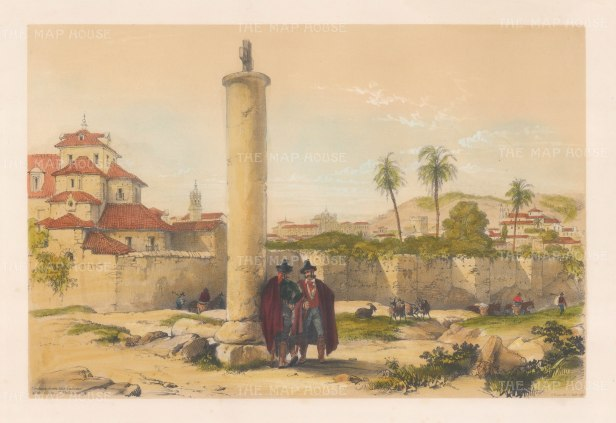 "Vivian: Cordoba. 1838. An original colour antique lithograph. 15"" x 10"". [SPp1001]"