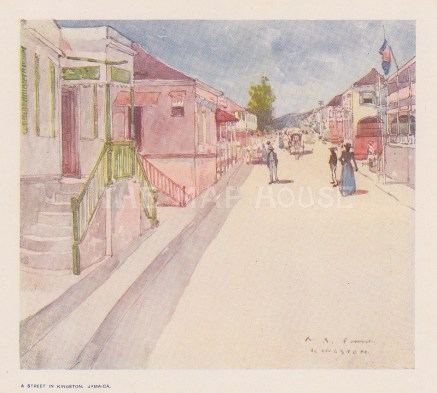 "Fox: Kingston, Jamaica. 1914. An original antique chromolithograph. 6"" x 4"". [WINDp1229]"