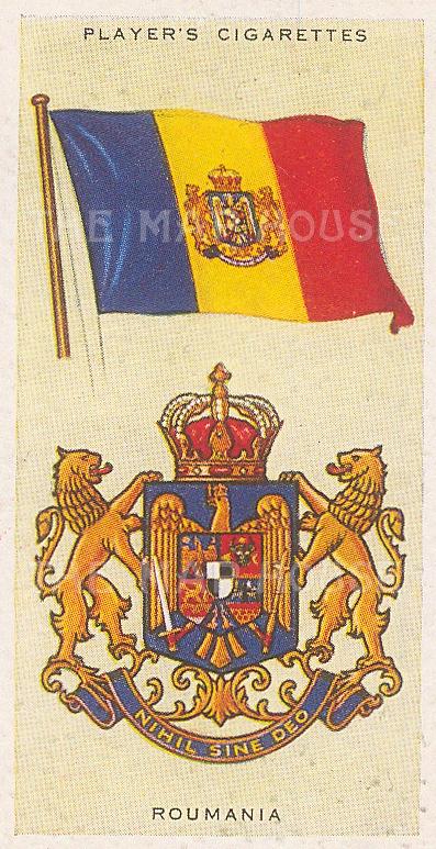 "Player's Cigarettes: Romania. c1935. An original antique chromolithograph. 1"" x 3"". [ARMp102]"