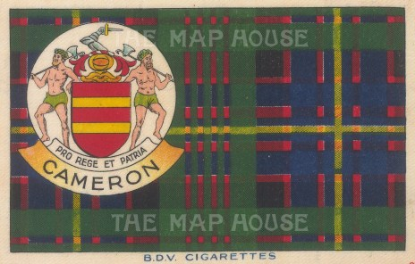 BDV Cigarettes: Cameron. 1910. Original printed colour on silk. [ARMp135]