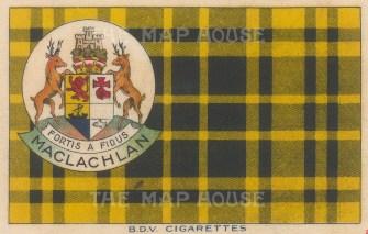 "BDV Cigarettes: MacLachlan. 1910. Original printed colour on silk. 7"" x 5"". [ARMp136]"
