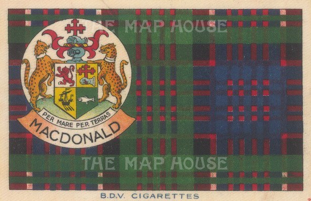 "BDV Cigarettes: MacDonald. 1910. Original printed colour on silk. 7"" x 5"". [ARMp139]"