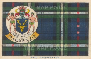 "BDV Cigarettes: MacKenzie. 1910. Original printed colour on silk. 7"" x 5"". [ARMp140]"