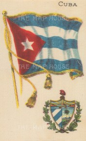 "Nebo Cigarettes: Cuba. c1908. Original printed colour on silk. 3"" x 5"". [ARMp25]"