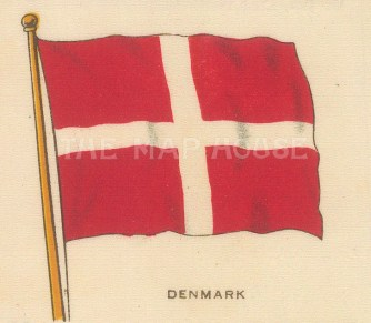 "Cigarette Cards: Denmark. c1910. Original printed colour on silk. 3"" x 2"". [ARMp30]"