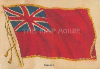 "BDV Cigarettes: England, Red Ensign. c1910. Original printed colour on silk. 6"" x 4"". [ARMp35]"
