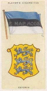 "Player's Cigarettes: Estonia. 1935. An original antique chromolithograph. 1"" x 3"". [ARMp37]"