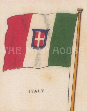 "Cigarette Cards: Italy. c1910. Original printed colour on silk. 2"" x 3"". [ARMp63]"
