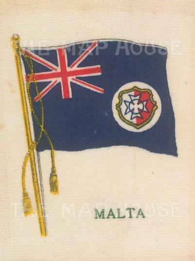 "Cigarette Cards: Malta. c1912. Original printed colour on silk. 2"" x 3"". [ARMp77]"