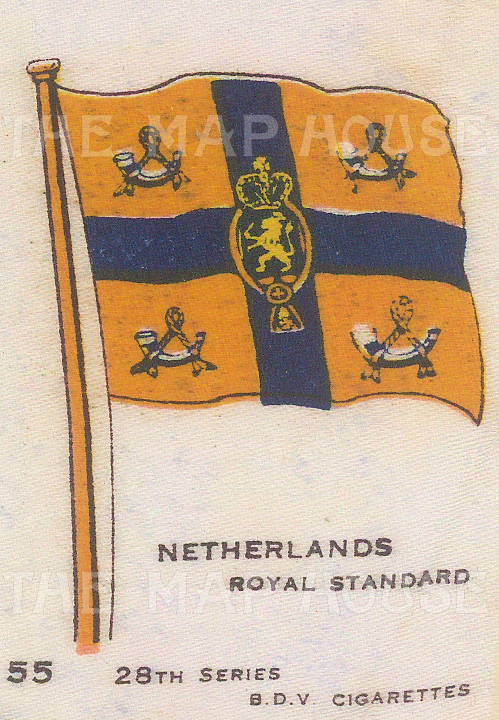 "BDV Cigarettes: Netherlands. c1910. Original printed colour on silk. 2"" x 3"". [ARMp83]"