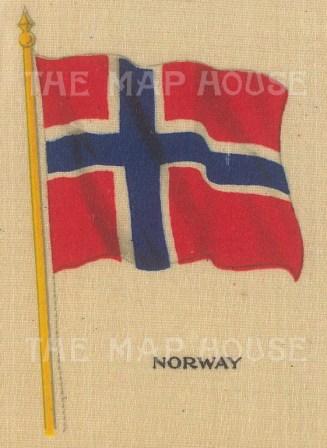 "Cigarette Cards: Norway. c1910. Original printed colour on silk. 2"" x 3"". [ARMp91]"