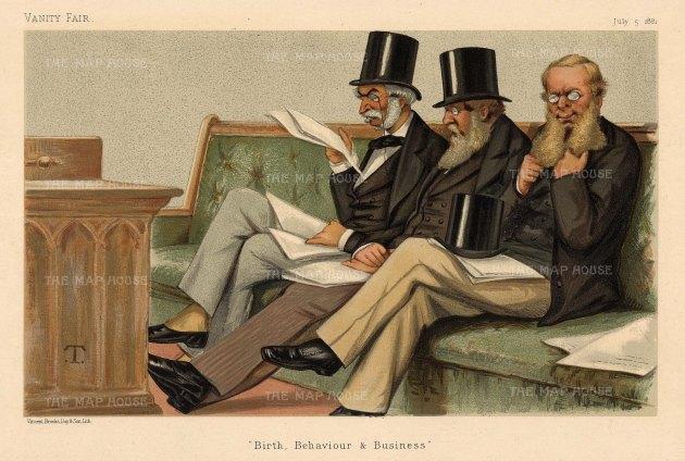 'Birth, Behaviour & Business' Her Majesty's Opposition. Duke of Rutland, Sir SH Northcote and Sir RA Cross.