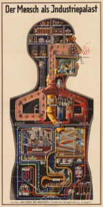 Der Mench als Industriepalast (Man as an Industrial Palace): The human body represented as a machine with part represented by a mechanical equivalent.