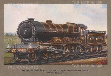 Atlantic Type Engine: North British Railway.