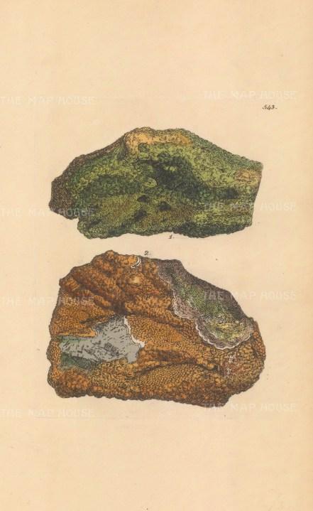 Plumbum phosphatum. Lead phosphate from Leadhills, Lancashire.