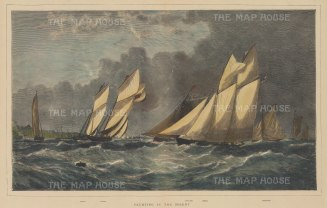 Yachting in the Solent: Arrow, Livonia, Vanguard, Egeria, and Foxhound.