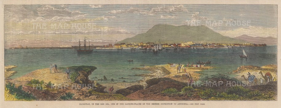 Eritrea: Massawa. View of the Red Sea port on the Gulf of Zula. Abyssinian Expedition.