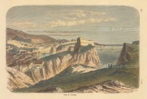 "Collins: Ragusa (Ddrovnik), Croatia. c1870. A hand coloured original antique wood engraving. 9"" x 6"". [CEUp550]"