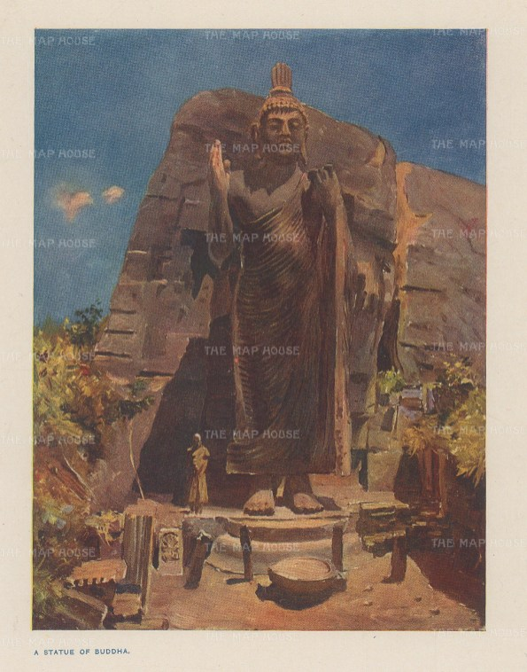 "Norbury: Kandy. 1913. An original antique chromolithograph. 5"" x 4"". [INDp1435]"