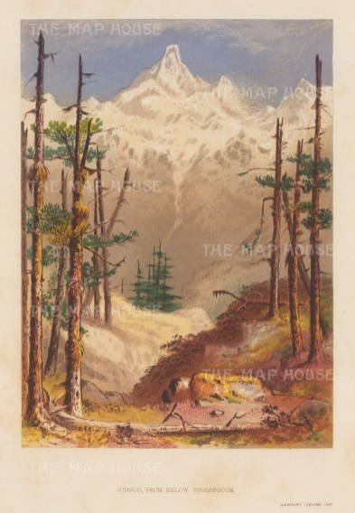 Junno Mountain: View from below Soubabgoom. After the first Western artist to depict the Eastern Himalayas.
