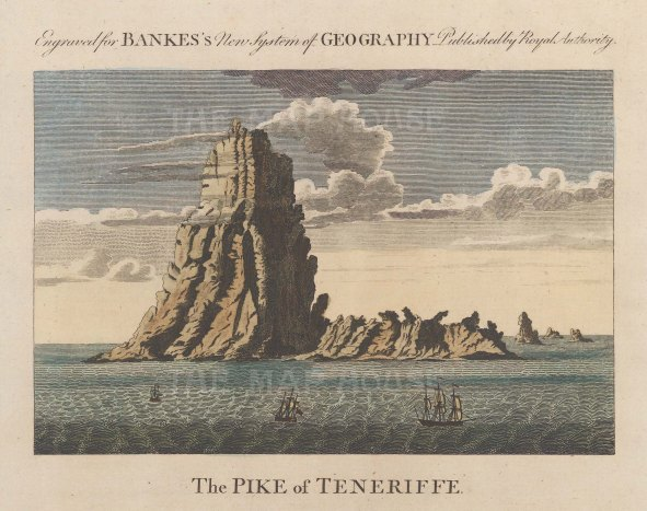 "Bankes: Tenerife, Canary Islands. c1780. A hand coloured original antique copper engraving. 8"" x 6"". [AFRp1239]"