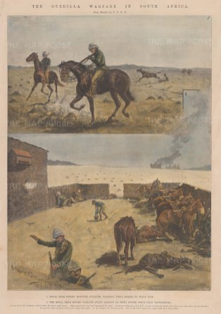 First Anglo-Boer War: Sketches of the Royal Irish Rifles.