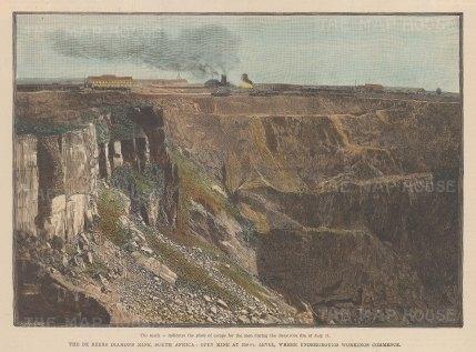 The De Beers Diamond Mine, South Africa.